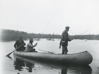 Three Fishermen in a Canoe
