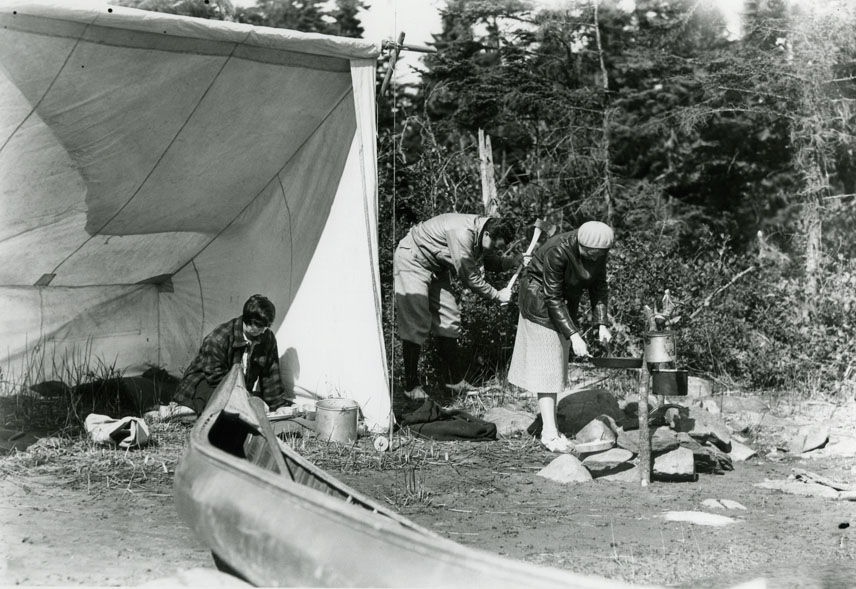 Unidentified Group Camping