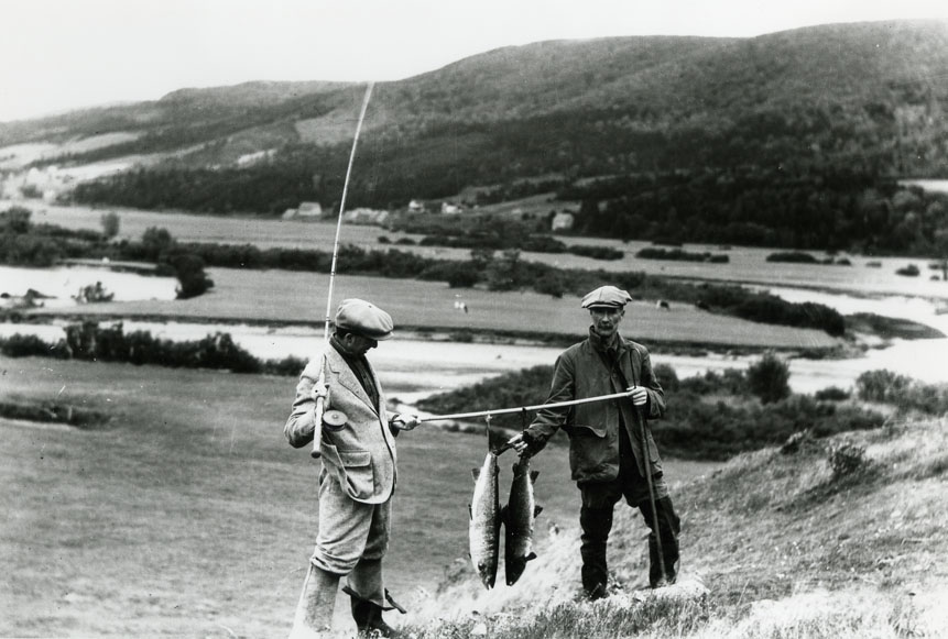 ''Mr. D. Buckley and Another Sports Fisherman, Salmon Fishing the Margaree River, NS''