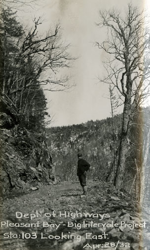 ''Pleasant Bay — Big Intervale Project, Sta. 103 Looking East''