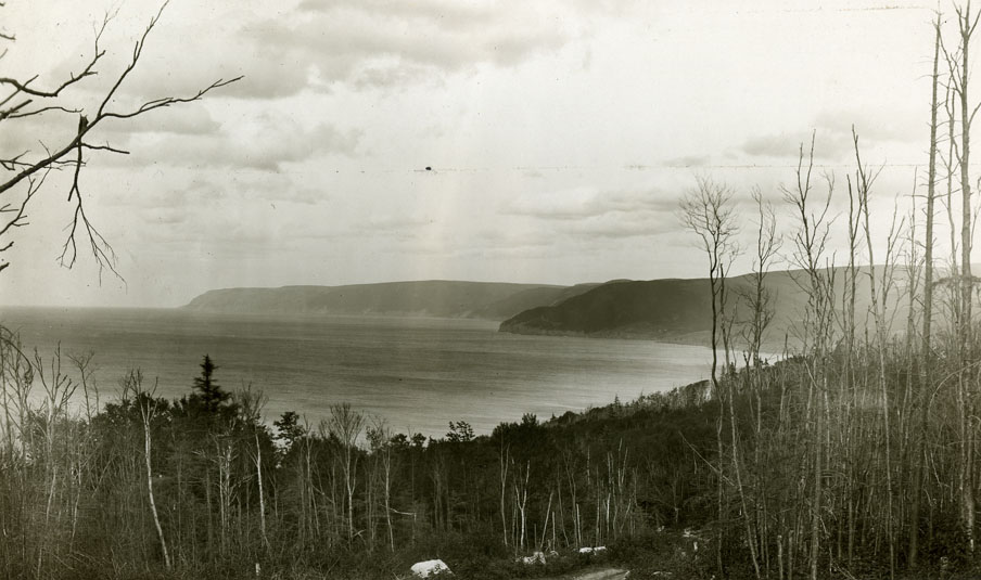 ''Pleasant Bay from McKenzie Mtn., Inverness County, Cape Breton''