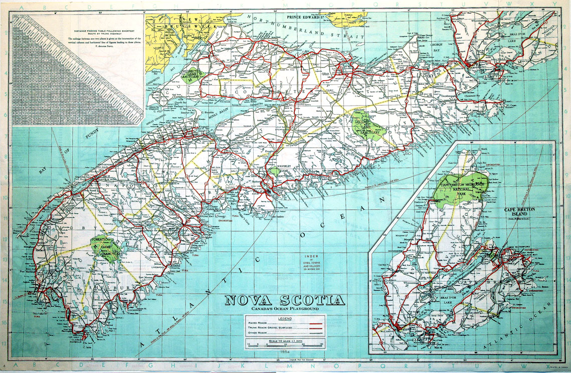 ''Nova Scotia, Canada's Ocean Playground, Official Highway Map''