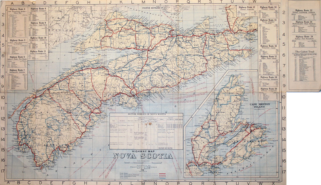 ''Highway Map of Nova Scotia''