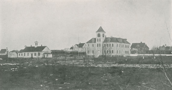 ''Old and New Academy Buildings, and Roman Catholic Church''