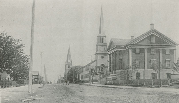 Tabernacle and First Baptist Churches and Court House